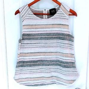 Anthropologie W5 Striped Textured Tank Top Large